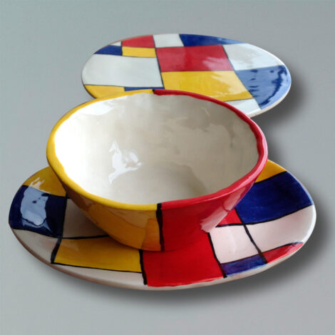 Set Diseño Mondrian