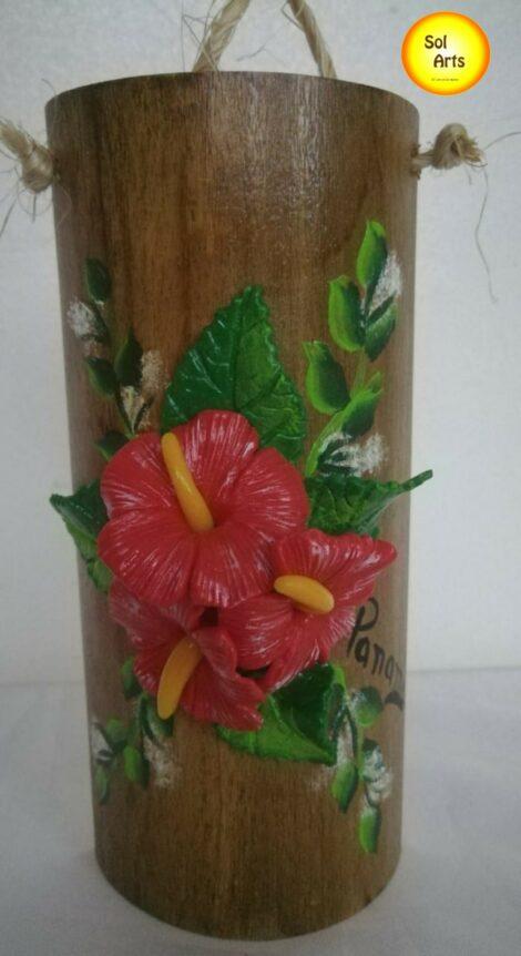 Flor de Papo en Bambú