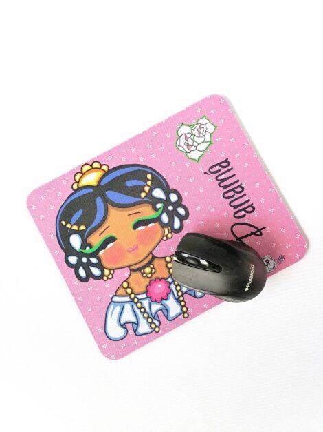 Mousepad de Goma Antideslizante – Pollerita Rosa – Dulzura Étnica