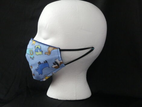Mascarilla reversible estampada