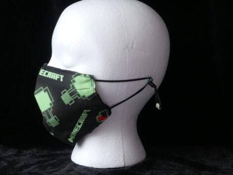 Mascarilla negra estampado de Minecraft
