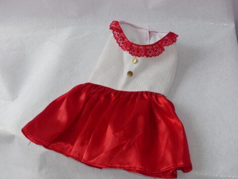 vestido rojo para mascota canina o felina hembra