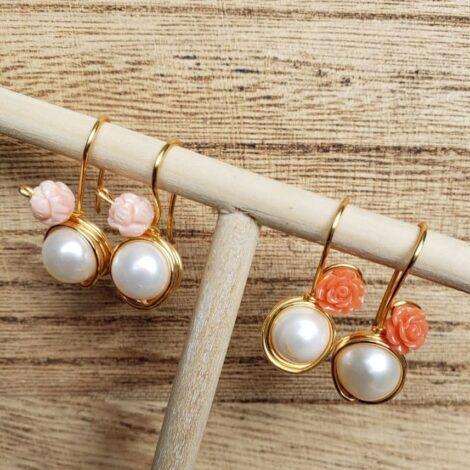 Aretes de perlas cultivadas