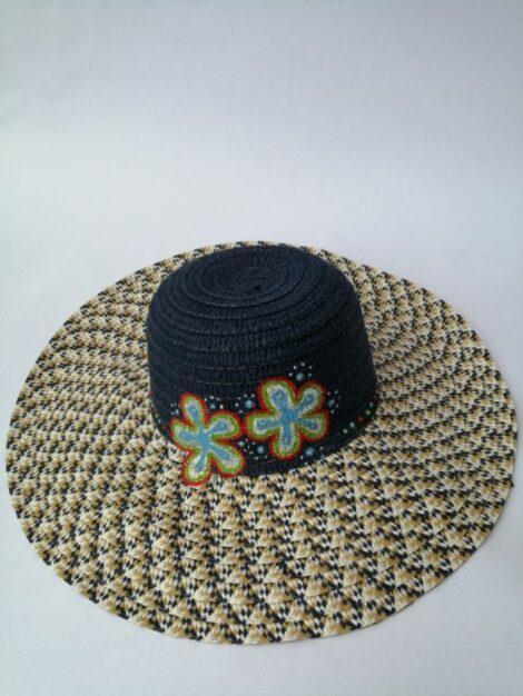 Sombrero de ala ancha pintado