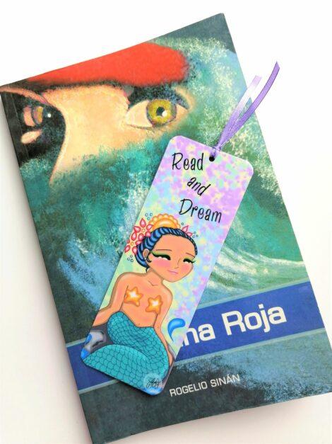 Separa Páginas de Sirena – Dulzura Étnica – Pollera de Panamá – Océano Pacífico – Sirenas de Panamá – Marca Páginas Hecho a Mano – Laminado