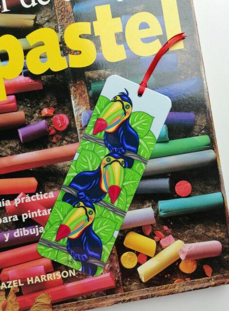 Marca Páginas de Tucán – Panamá Forestal – Separa Páginas Laminado – Hecho a Mano – Aves Tropicales – Arte de Panamá – Marca Libros Impreso