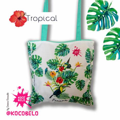 Bolso en tela Tropical