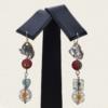 Aretes con Perlas y Murano amarillos (Diseño Asimétrico)