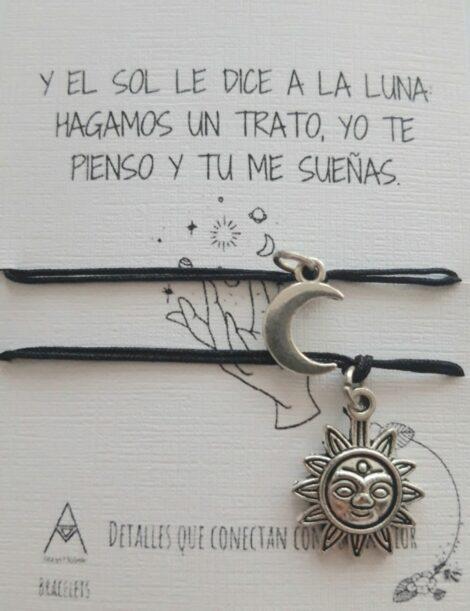 Duo de pulseras en Hilo, Sol y Luna