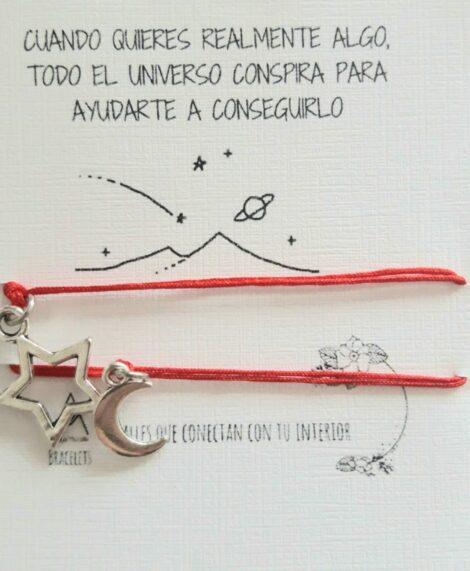 Duo de pulseras en Hilo, Luna y Estrella