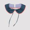 Cuello de quita y pon azul con borde fluor