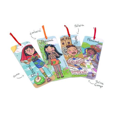 Pack de Separa Páginas 4 pzas – Bookmarks Yo Soy Panamá – Souvenirs de Panamá