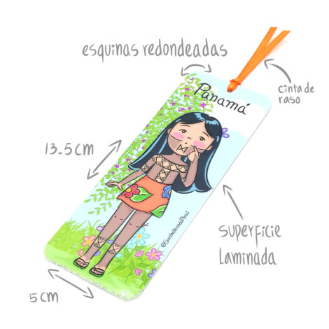 Separa Páginas Yo Soy Panamá – Bookmarks – Niña Emberá – Souvenirs de Panamá