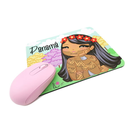 Mousepad de Goma Antideslizante – Niña Emberá – Dulzura Étnica