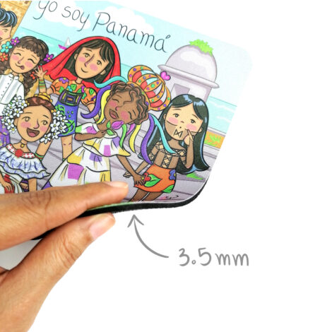Mousepad de Goma Antideslizante – Yo Soy Panamá – Regalos para la Oficina