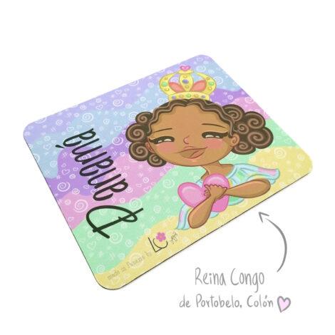 Mousepad de Goma Antideslizante – Reina Congo de Colón – Dulzura Étnica