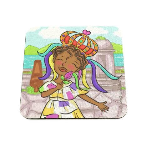 Portavaso de Goma Antideslizante – Yo Soy Panamá – Reina Congo – Regalos Culturales de Panamá