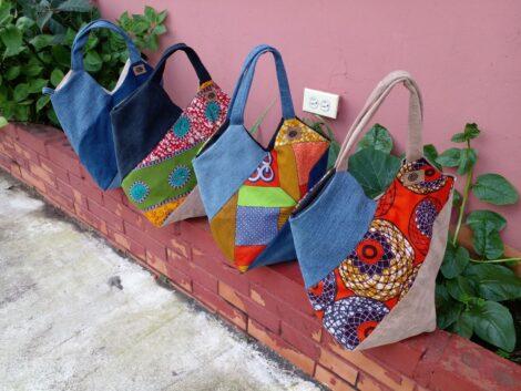 Bolsos artesanales con estampados étnicos