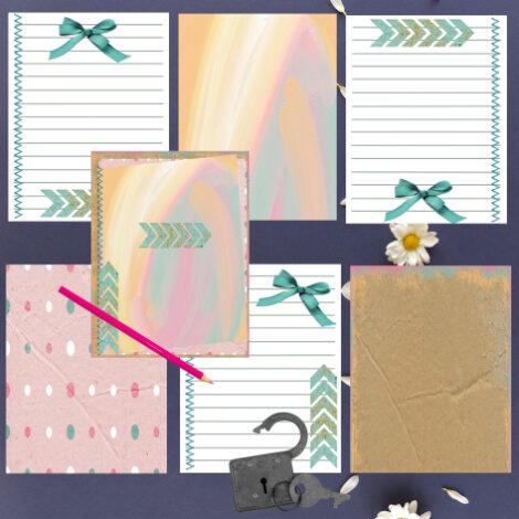 Notebook digital, Libretas, diarios digitales, 150 páginas. Personalizado. Papelería imprimible. Ideales para agregar tus notas y dar un hermoso regalo. Hojas imprimibles. Para tus trabajos de SCRAPBOOKING.