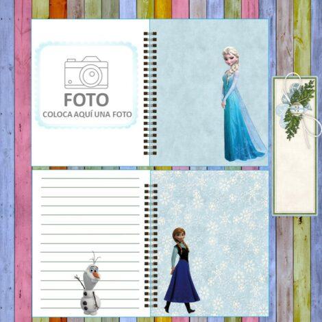 Libretas, agendas, diarios, album de recuerdos FRONZE DISNEY digital 80 páginas. Papelería imprimible. Ideales para agregar tus notas y dar un hermoso regalo. Hojas imprimibles. Para tus trabajos de SCRAPBOOKING.